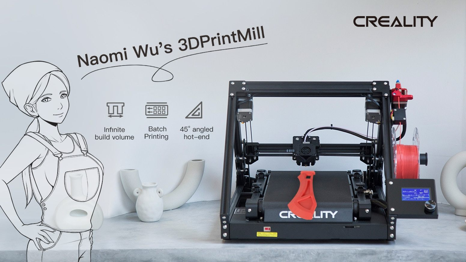 3DPrintMill/CR 30, Infinite-Z Belt 3D Printer - Creality 3D Printer
