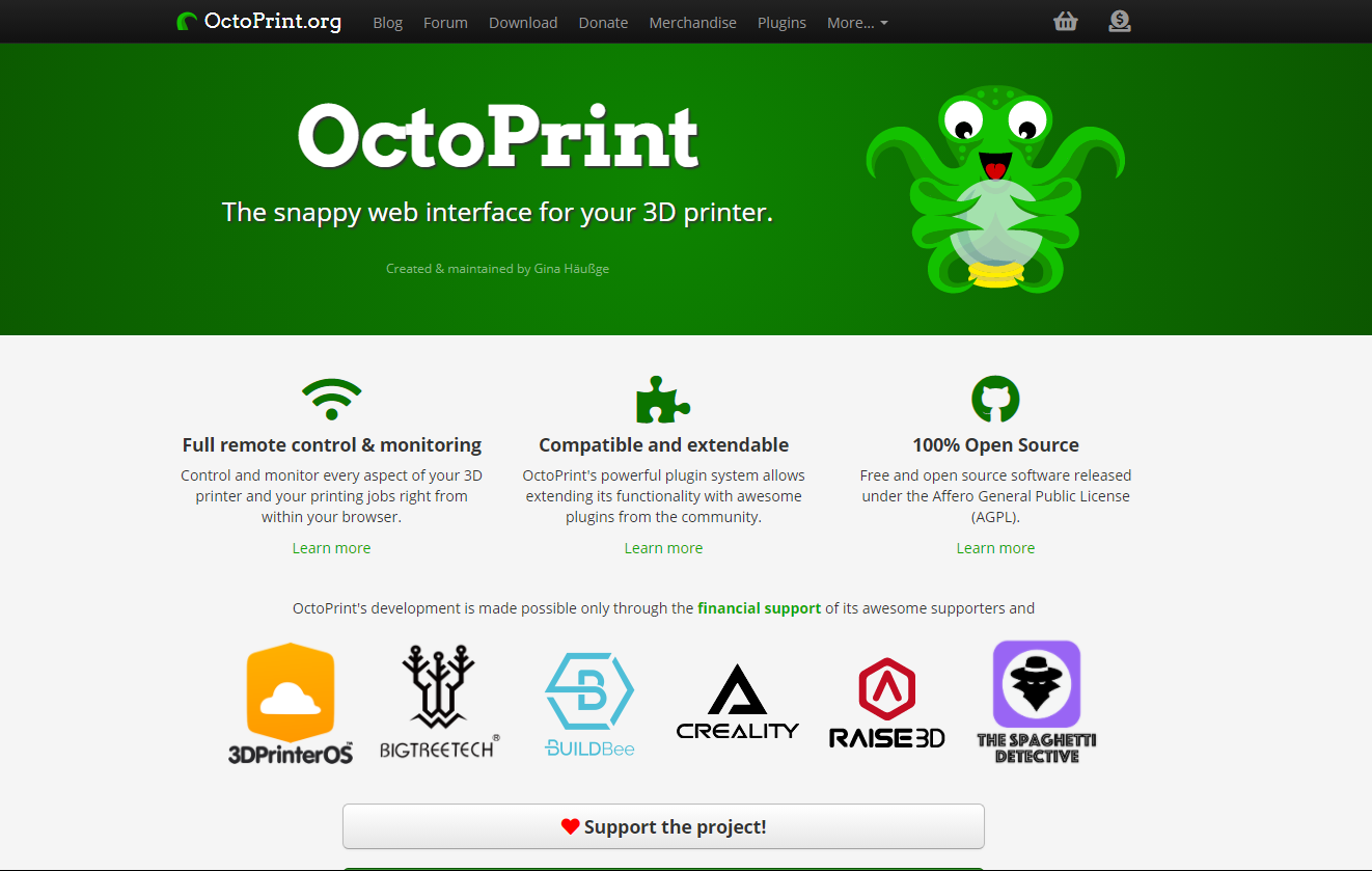 Creality Official and OctoPrint