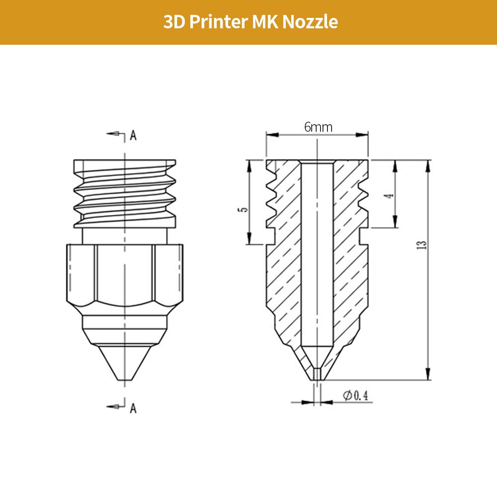 Creality MK Brass Nozzle