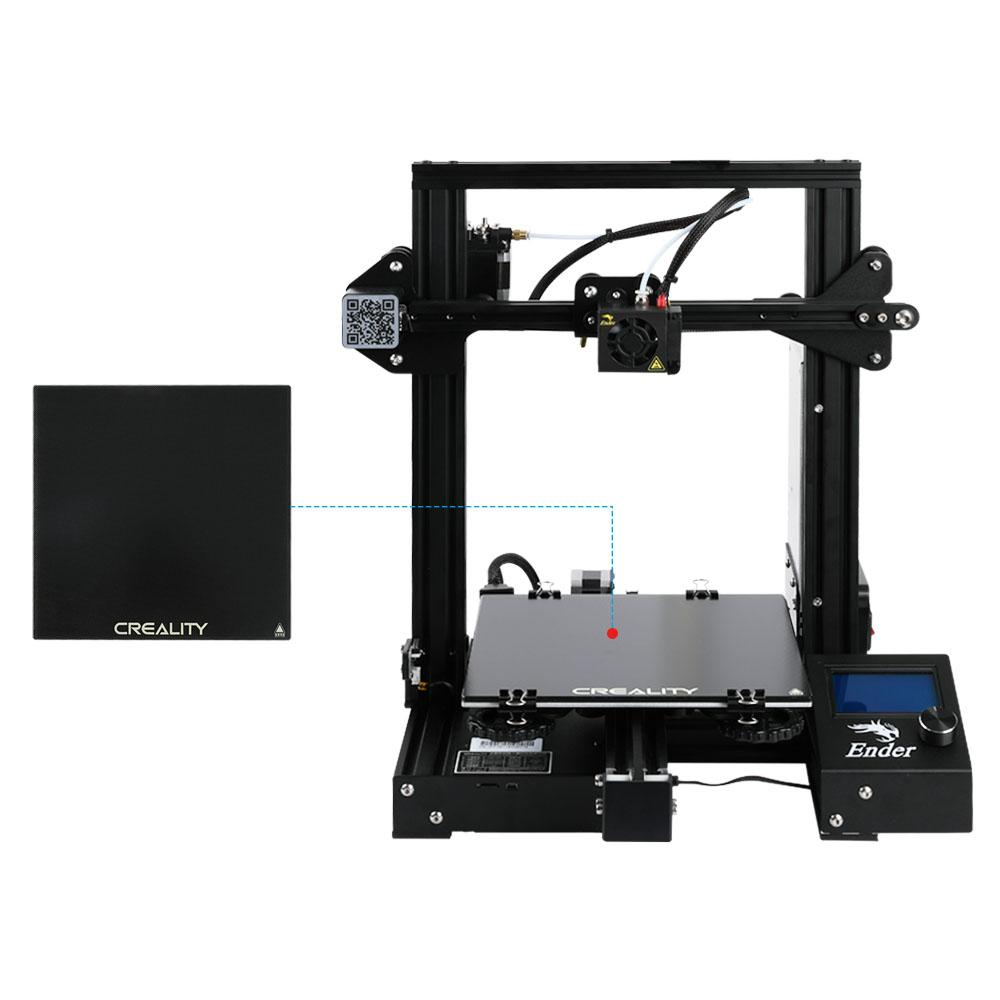 Ender 3/ender 3pro 3d printer with tempered glass kit