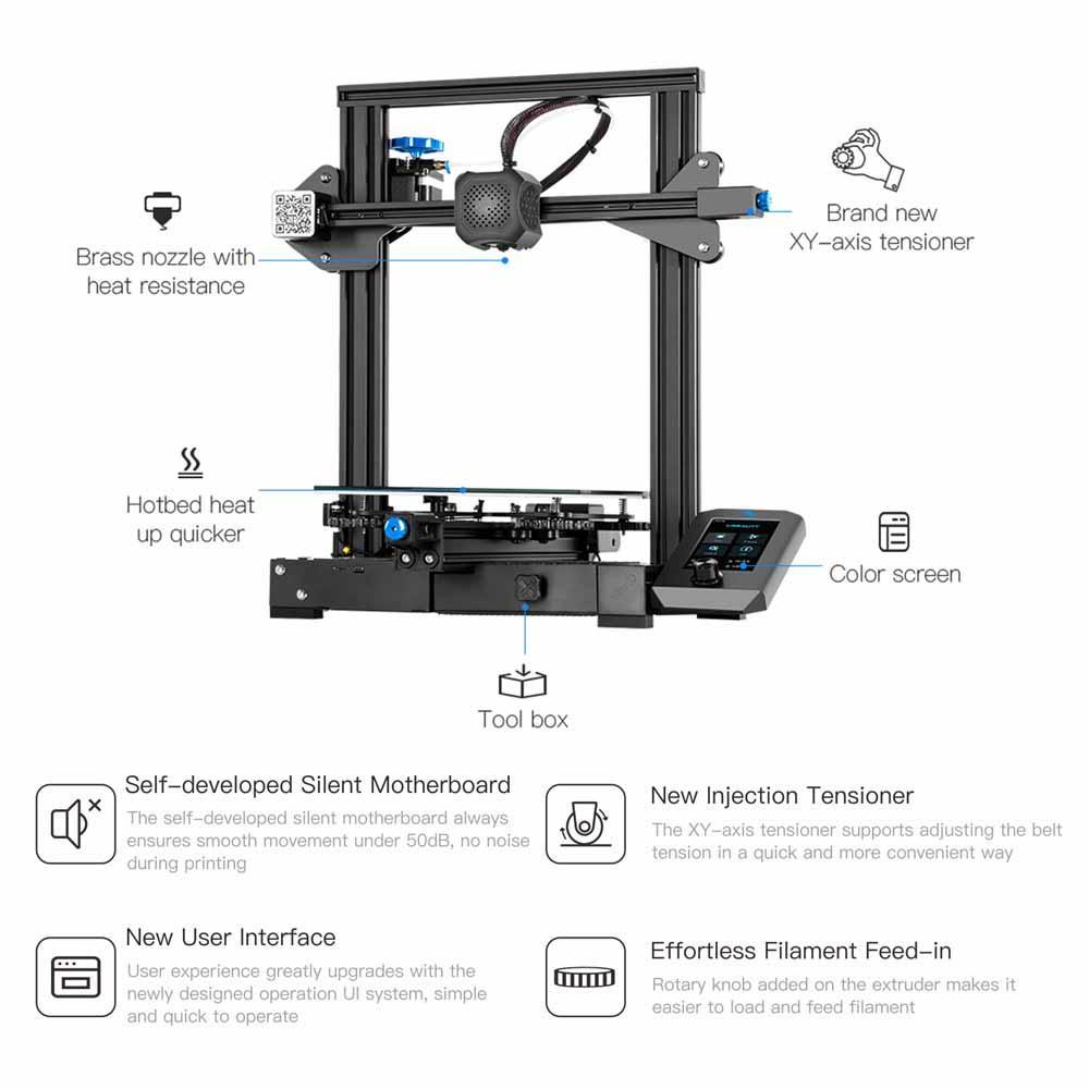 Ender 3 V2 3D Printer+2KG PLA