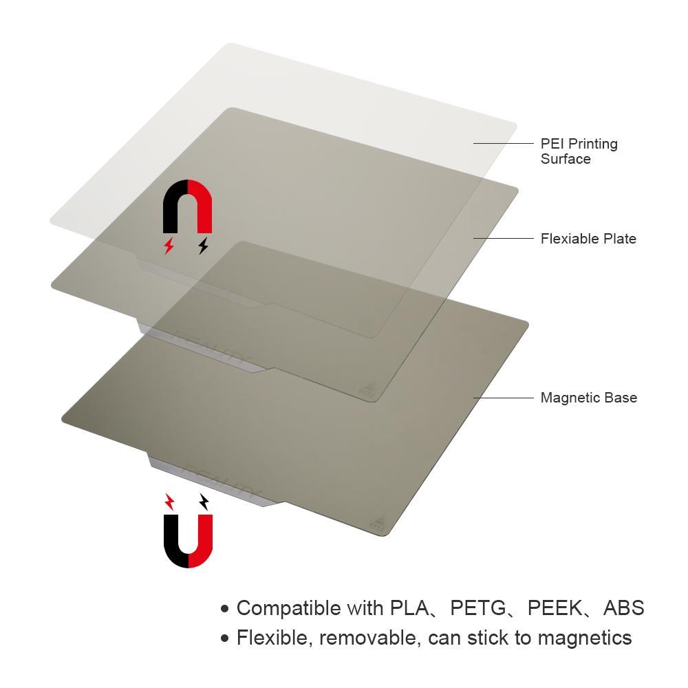 creality build plate, flexible pei build plate