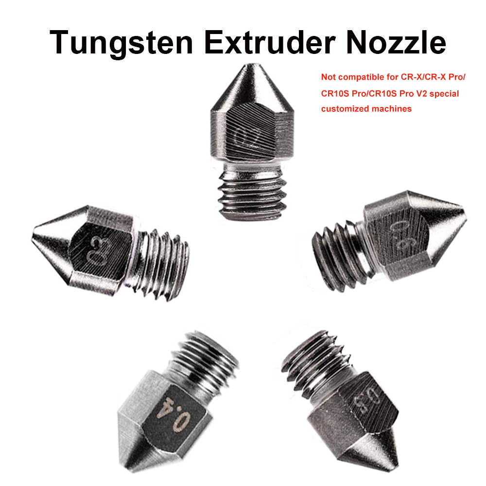 3d printer nozzles, creality tungsten Brass nozzles