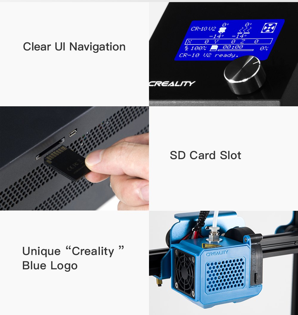 Creality CR-10 V2 HD 3D Printer