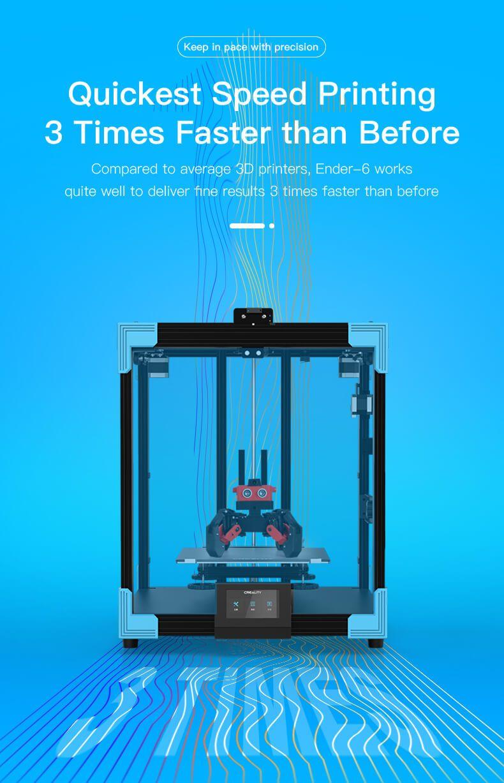 Ender-6 3d printer, creality ender-6 coxey 3d printer