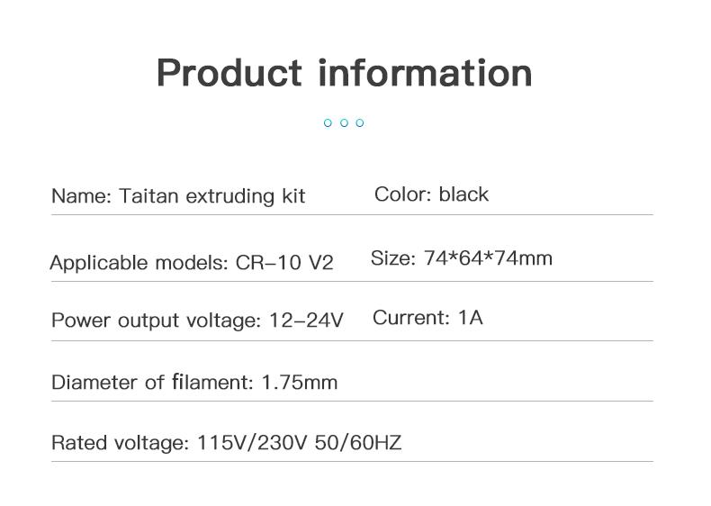 Titan Extruder Kits Creality 3D Printer
